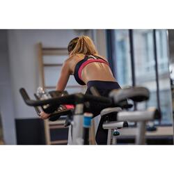 Top Sujetador deportivo Cardio Fitness Domyos 900 mujer azul rosa blanco