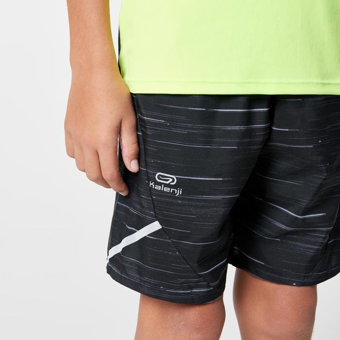short baggy atletismo niño run dry estampado negro gris