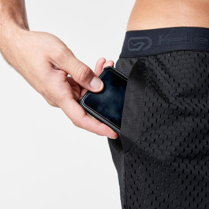 RUN DRY + BREATHE MEN'S RUNNING SHORTS - BLACK