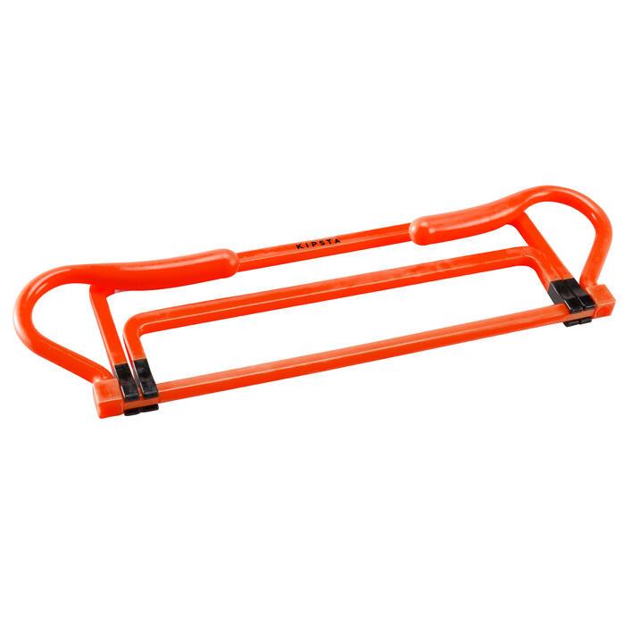 Verstelbare horde voor voetbal 3 hoogtes geel