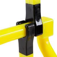 Obstáculo de velocidad, 3 alturas, amarillo.