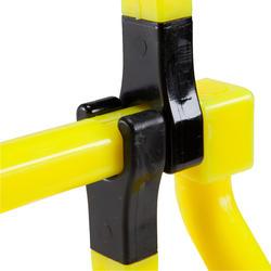 3種不同高度的跨欄-黃色