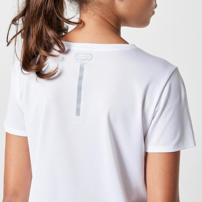 Tee shirt athlétisme enfant run dry dossard blanc - 1264024