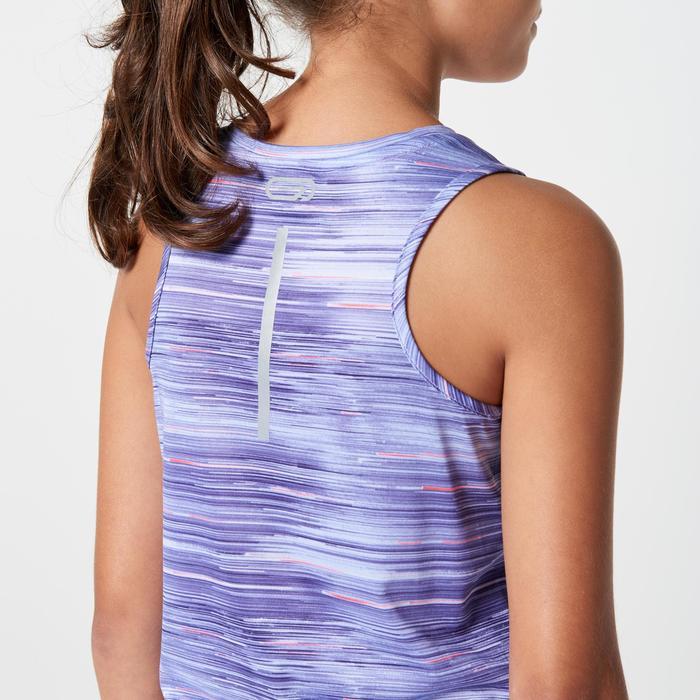 Atletiektop voor kinderen Run Dry+ indigo met print