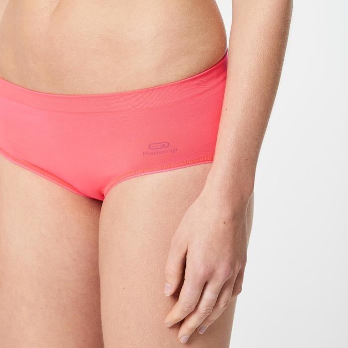 Sportunterhose atmungsaktiv Laufen Damen neonrosa