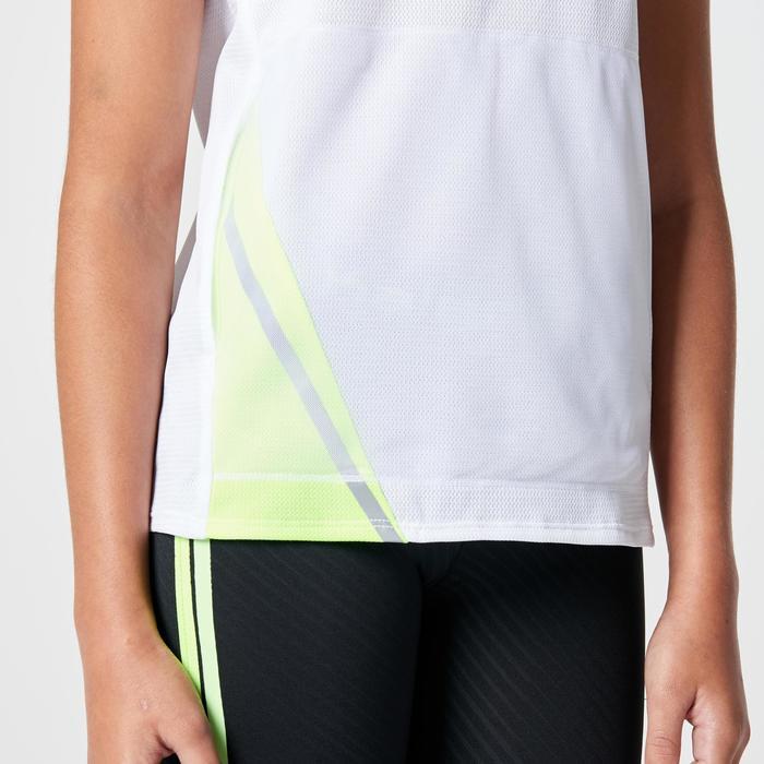 Tee shirt athlétisme enfant run dry dossard blanc - 1264055
