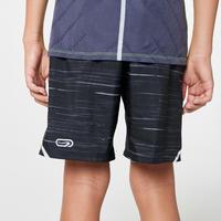 Run Dry Printed Children's Baggy Shorts - Black/Grey