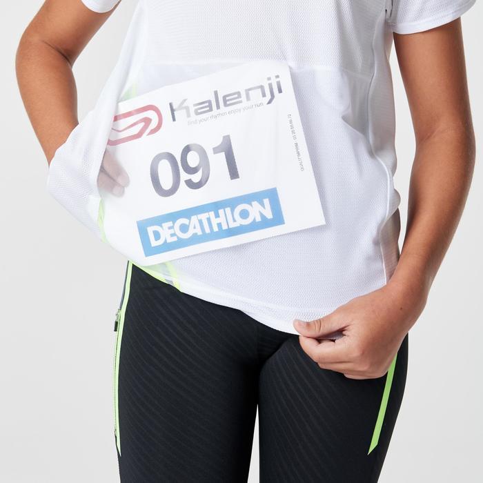 Tee shirt athlétisme enfant run dry dossard blanc - 1264137