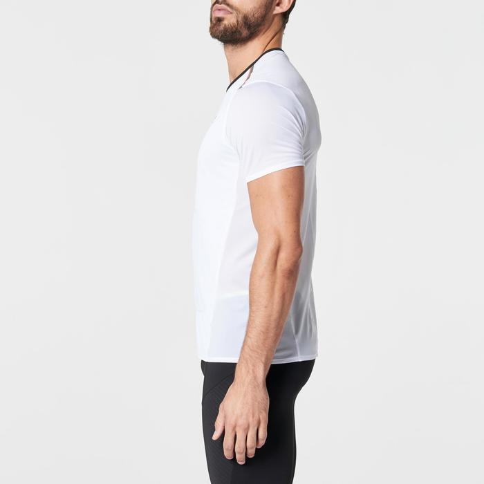 Hardloopshirt met rugnummerhouder voor heren Kiprun wit