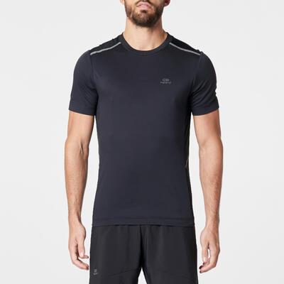 RUN DRY+ BREATH MEN'S RUNNING T-SHIRT - BLACK