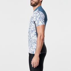 Camiseta manga corta trail running hombre azul graph