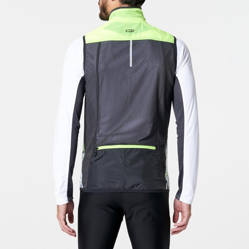veste sans manches coupe vent trail running jaune homme decathlon martinique. Black Bedroom Furniture Sets. Home Design Ideas