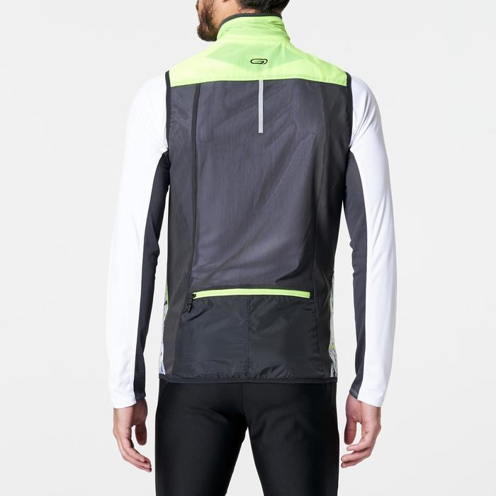 Veste sans manches coupe-vent trail running noir graph homme - 1264259