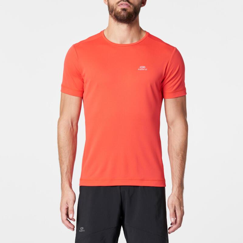 RUN DRY MEN'S RUNNING T-SHIRT - RED