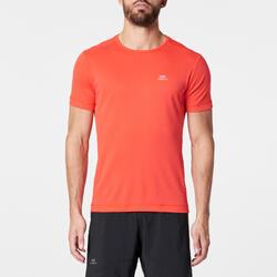 Ademend hardloop T-shirt voor heren Dry fluokoraal
