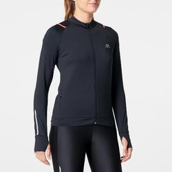 Laufjacke Run Dry Damen schwarz/koralle