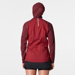 Veste imperméable trail running bordeaux femme