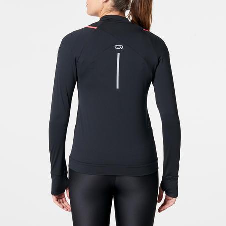 Жіноча кофта Run Dry для бігу - Чорна/Коралова