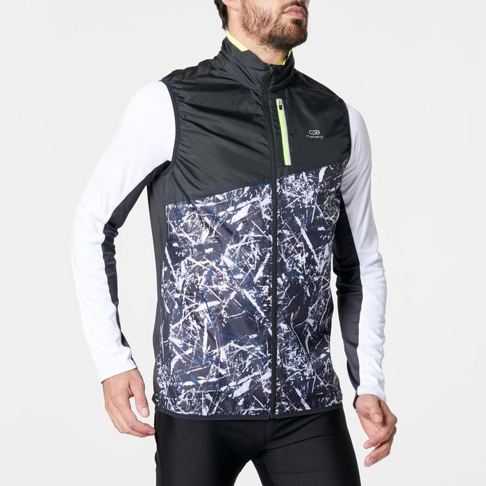 Veste sans manches coupe-vent trail running noir graph homme - 1264275