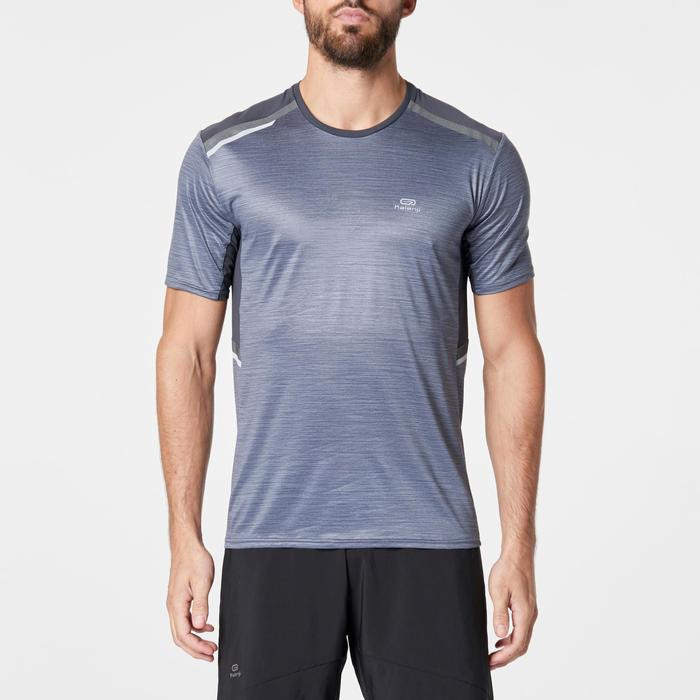 Camiseta Manga Corta Running Kalenji Run DRY+ Night Hombre Gris