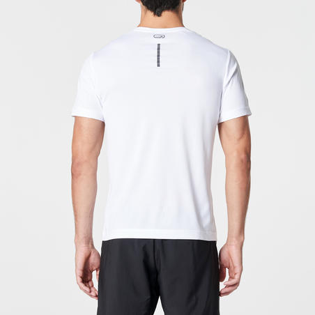 RUN DRY MEN'S RUNNING T-SHIRT - WHITE