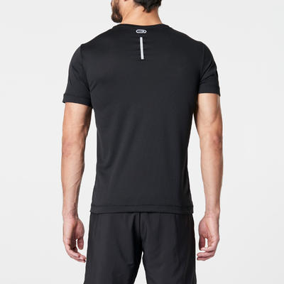 חולצת טריקו לגברים לריצה RUN DRY - שחור