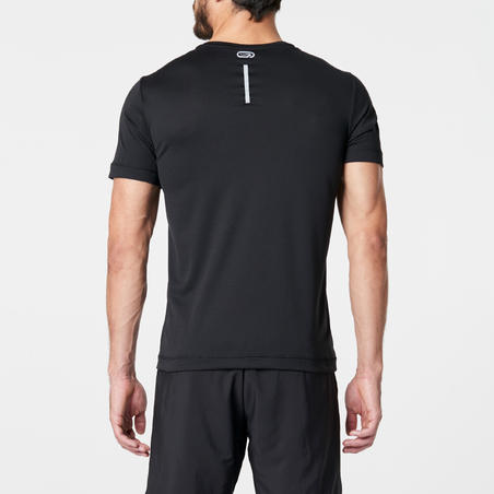 RUN DRY MEN'S RUNNING T-SHIRT - BLACK