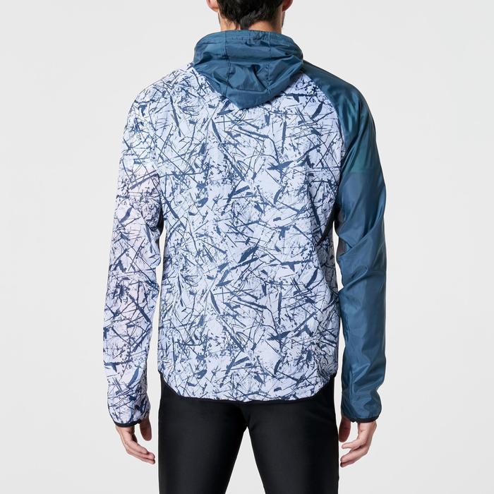 Heren windjack voor trail print grijs