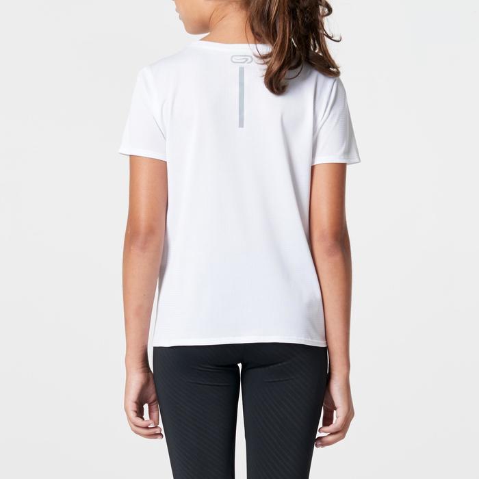Tee shirt athlétisme enfant run dry dossard blanc - 1264313