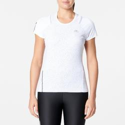 Camiseta Manga Corta Running Kalenji Run Dry+ Mujer Blanco By Night