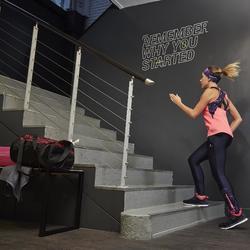 Camiseta sin mangas de fitness cardio para mujer rosa flúor 500 Domyos