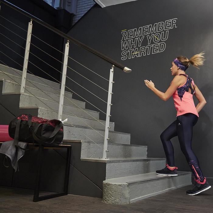 Chaussures fitness cardio-training  500 mid femme bleu et rose - 1264381