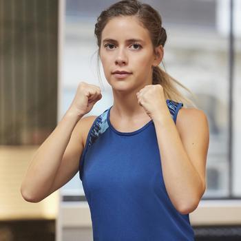 Chaussures fitness cardio-training 500 femme bleu et - 1264385