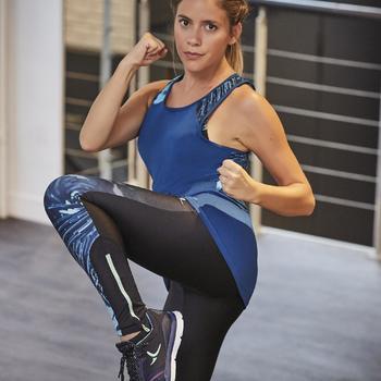 Chaussures fitness cardio-training 500 femme bleu et - 1264387