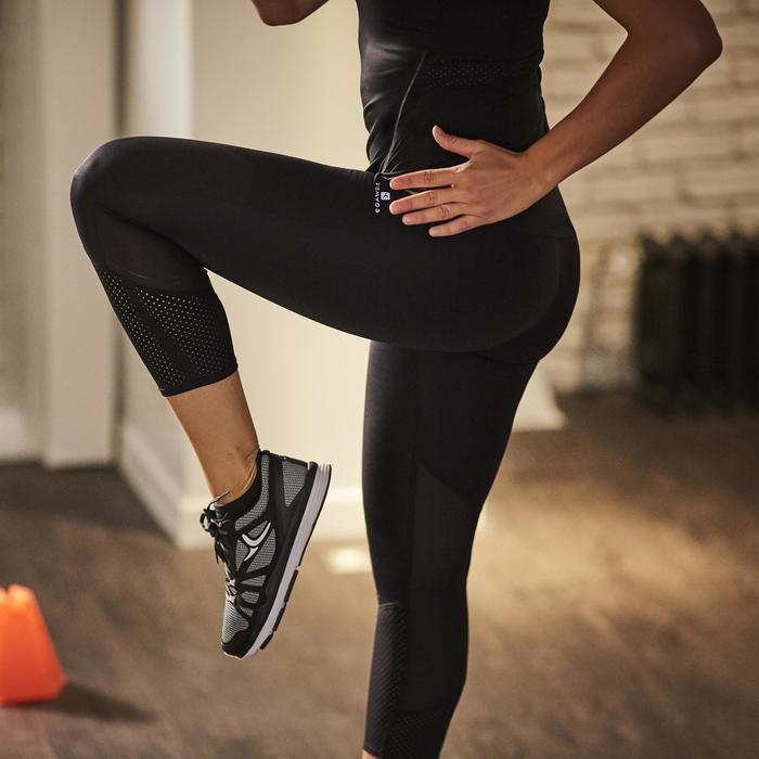 7/8-Leggings FLE 900 Cardio-/Fitnesstraining Damen schwarz