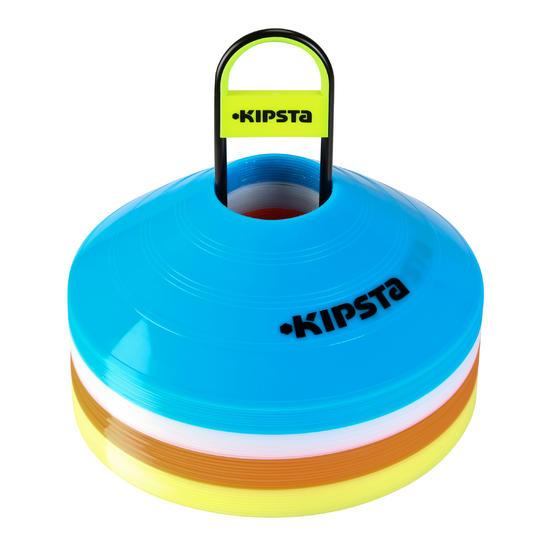 Kipsta Pionnen, set van 40 (10 blauwe, 10 witte, 10 rode, 10 gele)