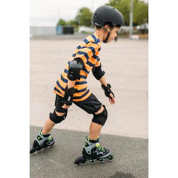 Inlineskates Inliner FIT 3 Fitness Kinder grau/gelb
