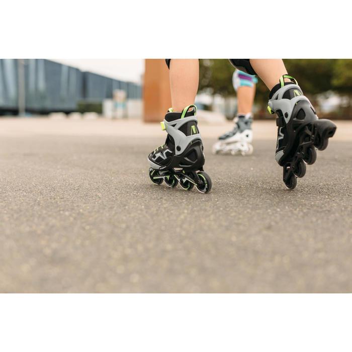 Inline Skates Inliner Fitness FIT 3 Kinder grau/gelb