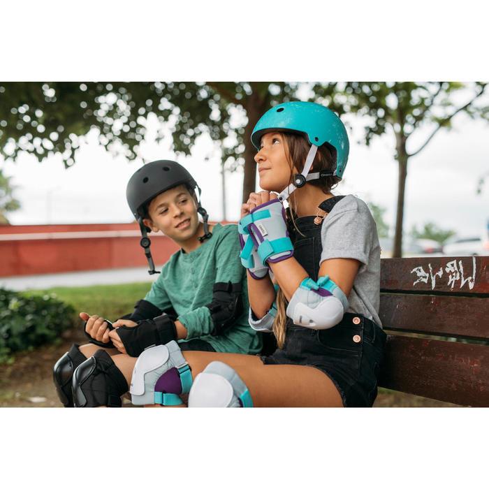 Protektoren Schoner Schützer 3er-Set Play für Inliner Scooter Kinder türkis