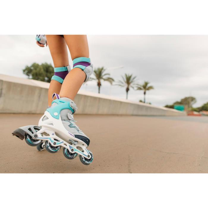 Fitness skeelers voor kinderen Fit 3 turquoise