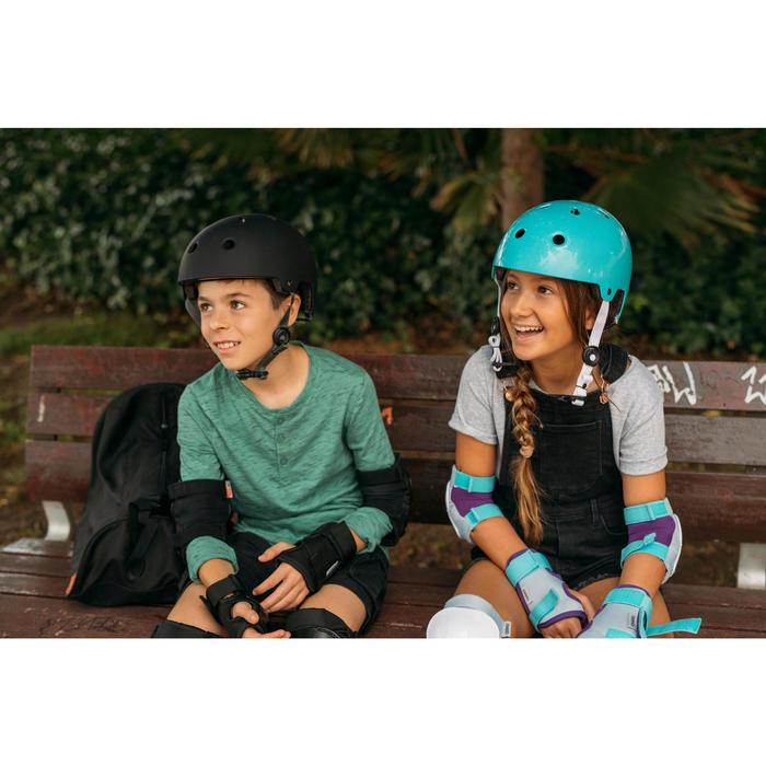 Protecciones Patinaje Patiente Skateboard Oxelo Play Niño Set 3 Turquesa