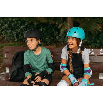 Set 3 beschermers Play kinderen, voor skeeleren, skateboard, step turquoise