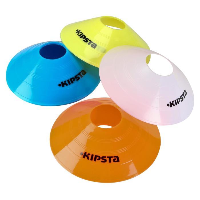 Set de 40 disques plats (10 bleus, 10 blancs, 10 rouges, 10 jaunes) - 126446