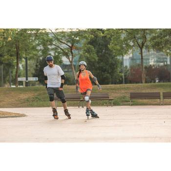 Set 3 beschermers Fit 5 volwassenen voor skeeleren skateboard step zwart blauw