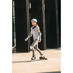 Casque roller skateboard trottinette MF540 Peppermint Gris