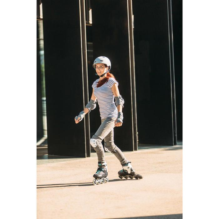 Helm MF 540 voor skeeleren, skateboarden, steppen mint grijs