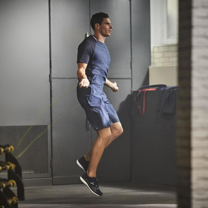 Sporthose kurz Cardio FST 900 Fitness Herren blau/grau