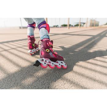 Protecciones Patinaje Patiente Skateboard Oxelo Play Niño Set 3 Violeta