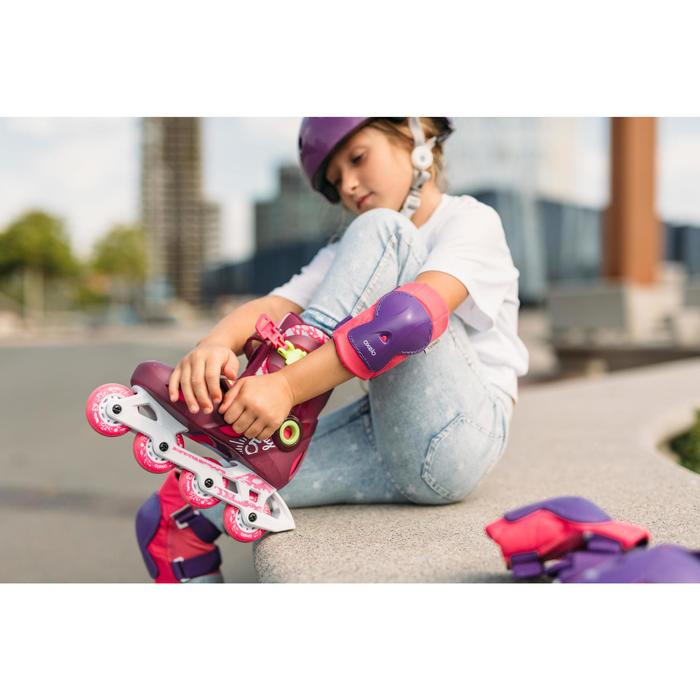 Protektoren 3er-Set Play Inliner Skateboard Scooter Kinder rosa/lila