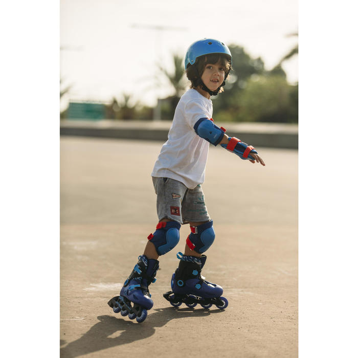 Set 3 protections roller skate trottinette enfant PLAY - 1264556